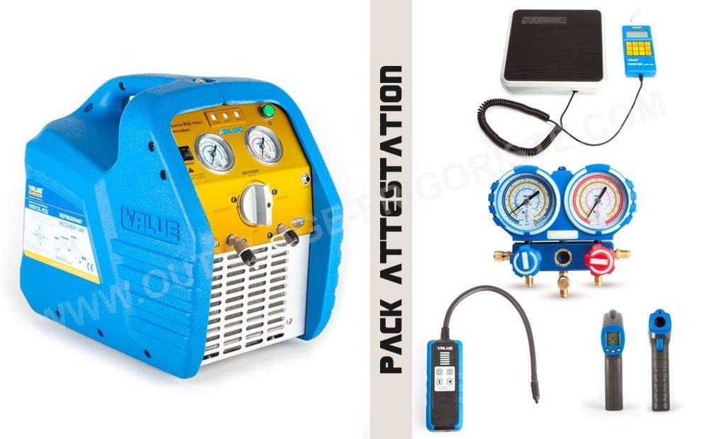 Pack Outillage attestation de capacité,  KIT ATC 24L R32 Présentation