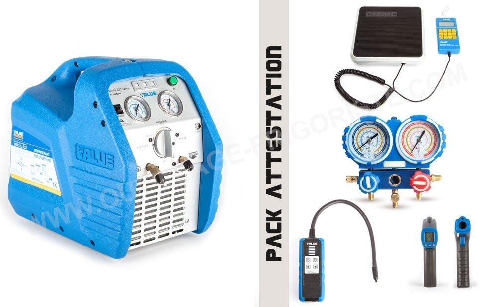 Pack Outillage attestation de capacité,  KIT ATC R32 Présentation